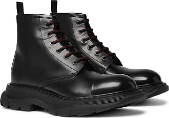 Alexander McQueen Exaggerated-sole Leather Boots - Black