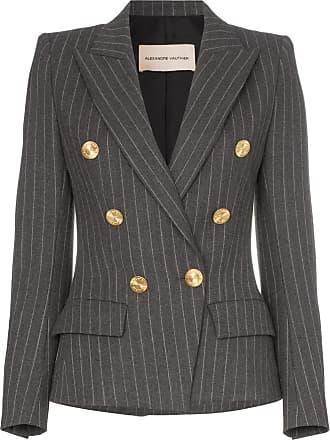 Alexandre Vauthier double-breasted pinstripe blazer - Cinza