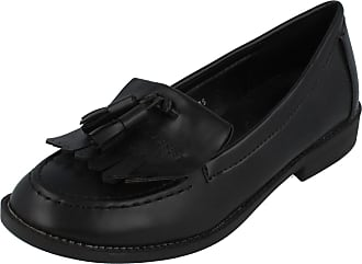 Spot On Ladies Spot On Loafter Style Shoes - Black Synthetic - UK Size 5 - EU Size 38 - US Size 7