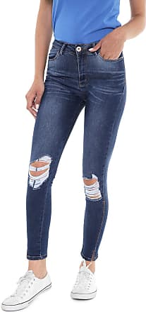 Planet Girls Calça Jeans Planet Girls Skinny Cropped Destroyed Azul