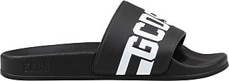 GCDS Slides Logo Unisex Mod. CC94U010216 Black Size: 8.5 UK
