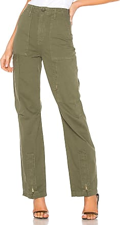 Re/Done Originals High Rise Cargo Pant in Army