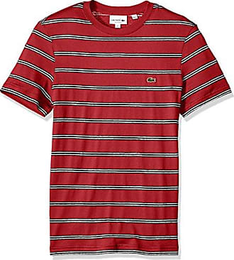 a12510a4 Lacoste Mens Short Sleeve Stripe Cotten/Linen Reg Fit T-Shirt, TH3248,