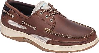 Quayside Sydney Mens Deck Shoe (Walnut, 10)