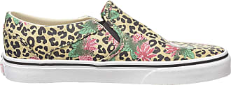 Vans Womens Asher Slip On Trainers, Multicolour ((Cheetah Palms) Candied Ginger/White Xwn), 8.5 (42.5 EU)