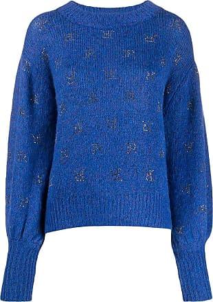 John Richmond Suéter com logo de strass - Azul