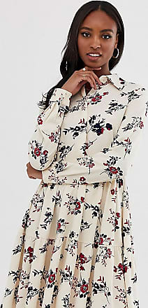 Y.A.S. Tall floral high neck dress-White