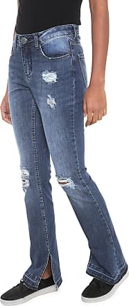 Hering Calça Jeans Hering Bootcut Destroyed Azul