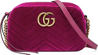 b33389e81bc8 Gucci Sac à épaule GG Marmont en velours petite taille