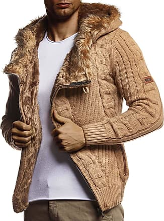 LEIF NELSON Men Cardigan Jacket Hood N NV