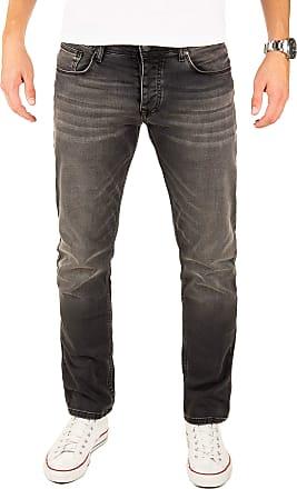 Yazubi Designer Mens Jeans Edvin - Slim Fit Jean Big Tall Dark, Black (Phantom 194205), W38/L36
