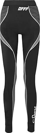 Off-white Stretch-knit Leggings - Black