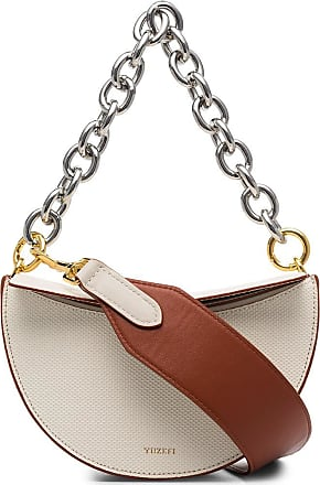 Yuzefi Dolores embossed shoulder bag - NEUTRALS