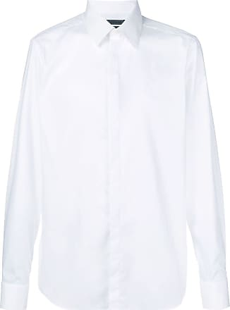 Corneliani concealed button placket shirt - Branco
