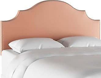 Skyline Furniture Nail Button Notched Headboard - Titan Pink Champagne, Size: Queen - 832NB-PWTTNPNKCHMP
