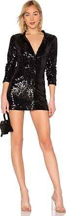 by the way. Simone Sequin Blazer Dress in Black