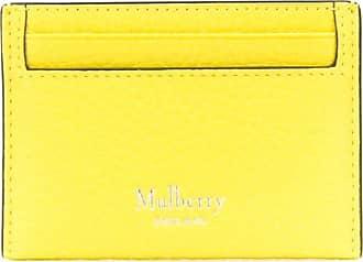 Mulberry Porta-cartões texturizado com estampa de logo - Amarelo
