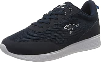 Kangaroos Mens K-Act Beal pu Nubuck+Nylon Sneaker, Jet Black/Mono, 6.5 UK