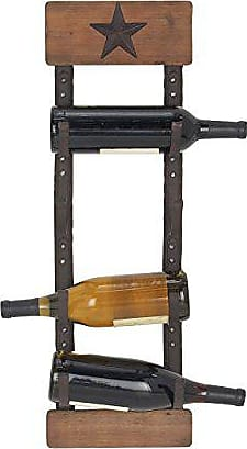 UMA Enterprises Inc. Deco 79 45860 Wall Wine Rack, Brown