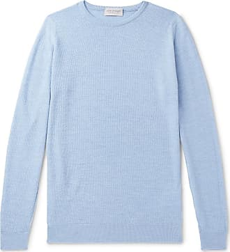 71e97497e387 John Smedley 1 Singular Slim-fit Textured Virgin Wool Sweater - Light blue