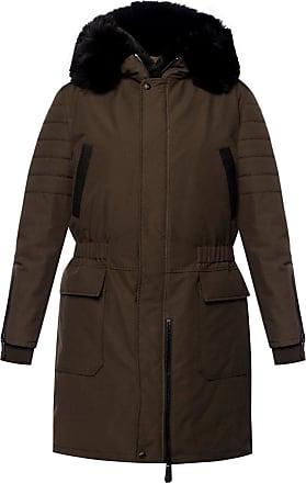 Philipp Plein Long Jacket With A Fur Finish Womens Green