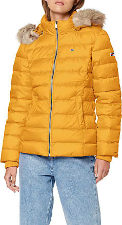 Tommy Jeans Womens Tjw Essential Hooded Down Jacket, (Yellow Zbc), X-Small