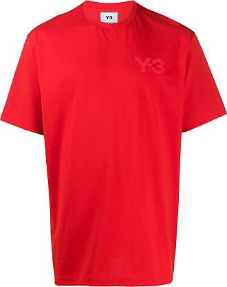 Yohji Yamamoto Camiseta com aplicação de logo - Vermelho