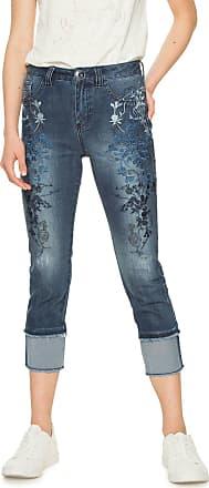 Desigual Calça Jeans Desigual Slim Cropped Erne Azul