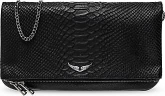 Zadig & Voltaire Rock Shoulder Bag With Logo Womens Black