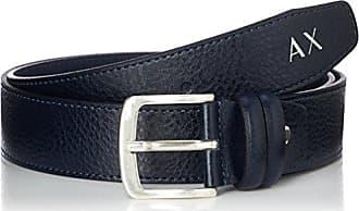 A|X Armani Exchange Armani Exchange Mens Double Keeper Belt, navy, TU