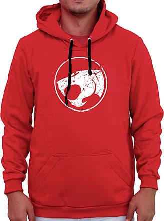 Atelier do Silk Agasalho Flanelado Capuz Thundercats Olho De Thundera Ref 1 Cor:Vermelho;Tamanho:GG