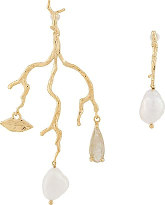 Wouters & Hendrix mouth branch earrings - GOLD