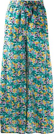 Diane Von Fürstenberg Calça x Onia Chloe com estampa floral - Verde