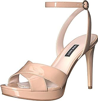 Nine West Womens QUISHA Synthetic Heeled Sandal, Light Natural 11 M US
