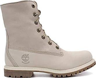 fd5804b6a9 Timberland Womens Authentics Waterproof Fold-Down Teddy Fleece Boots White,  6.5