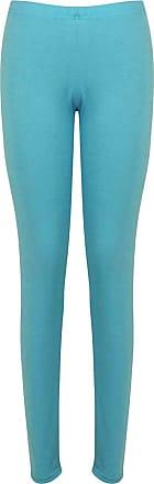 Be Jealous Womens Plain Basic Trousers Ladies Full Ankle Length Stretch Jeggings Leggings Turquoise