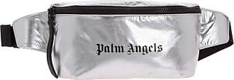 Palm Angels men Fanny bum bag argento