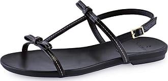 La Femme Sandália Flat La Femme Laço Lis Preta 35