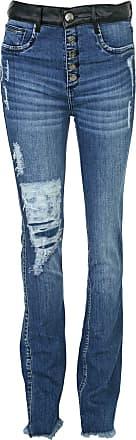 Lança Perfume Calça Jeans Lança Perfume Bootcut Destroyed Azul