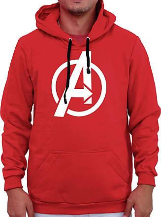 Atelier do Silk Agasalho Flanelado Capuz Unissex Avengers Os Vingadores Cor:Vermelho;Tamanho:GG
