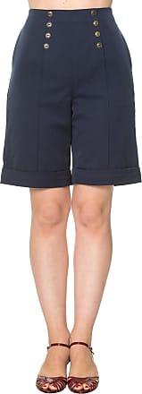 Banned Weekender Vintage Retro Shorts - Navy/L