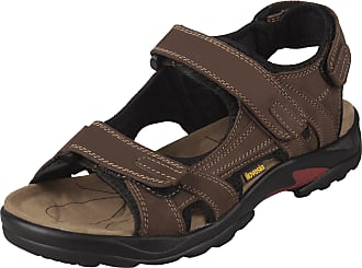 iLoveSIA Mens Athletic and Outdoor Leather Sandals Brown UK Size 10.5 (EU 46)