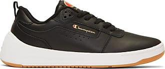 3b7bbde91cd CHAMPION REVERSE WEAVE Black Leather Super C Court Classic Sneakers