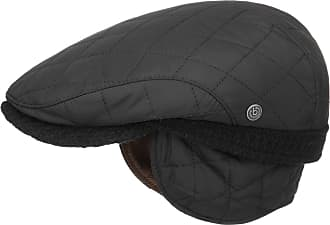 3767bb5fca3ed3 Bugatti Quilted Flat Cap with Ear Flaps Ivy Hat (59 cm - Black)
