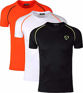 Jeansian Mens Sport Quick Dry Short Sleeves Compression T-Shirt Tee LSL182 PackL XL