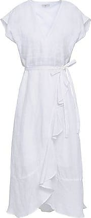 Joie Joie Woman Cutout Ruffled Linen-gauze Wrap Dress White Size XXS