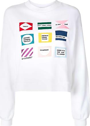 être cécile embroidered logo sweatshirt - White