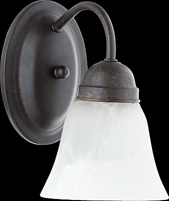 Quorum 1 Light Faux Alabaster Wall Mount in Toasted Sienna