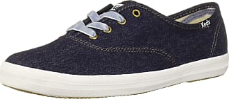 Keds Womens Champion Knit Shearling Sneaker, Navy, 3.5 UK