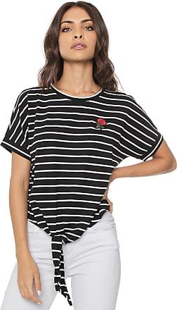 Vero Moda Blusa Vero Moda Nó Preta/Branca